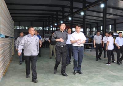 茌平区区委政府领导莅临我司并肯定合力创新举措